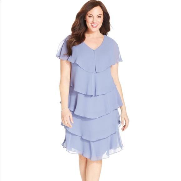 Patra Dresses New Tiered Chiffon Flutter Dress Plus Size Poshmark